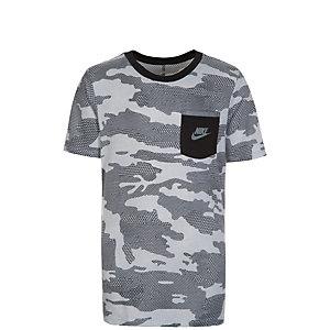 Nike Camo T-Shirt Kinder grau / schwarz