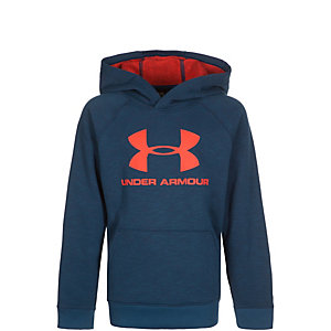 Under Armour ColdGear Sportstyle Hoodie Kinder dunkelblau / orange