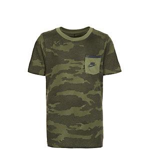 Nike Camo T-Shirt Kinder grün / schwarz