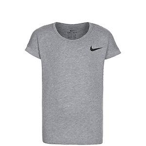 Nike Top Funktionsshirt Mädchen grau / schwarz