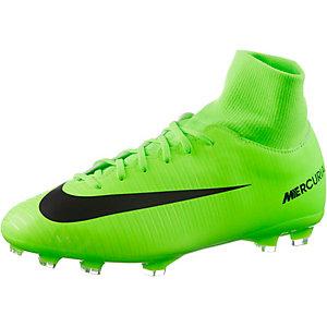 Nike JR MERCURIAL VICTORY VI DF FG Fußballschuhe Kinder neongrün/schwarz