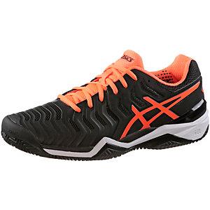 ASICS Gel-Solution 7 Clay Tennisschuhe Herren schwarz/orange