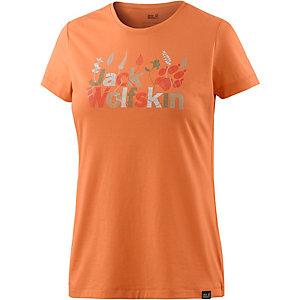 Jack Wolfskin Brand T-Shirt Damen papaya