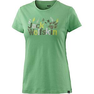 Jack Wolfskin Brand T-Shirt Damen hellgrün