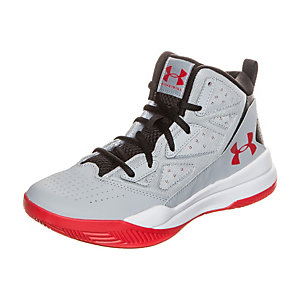 Under Armour Jet Mid Basketballschuhe Kinder grau / rot