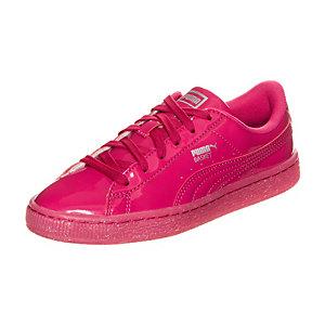 PUMA Basket Patent Iced Glitter Sneaker Mädchen pink