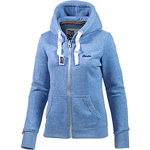 superdry sweatjacke damen hellblau im online shop von sportscheck kaufen. Black Bedroom Furniture Sets. Home Design Ideas