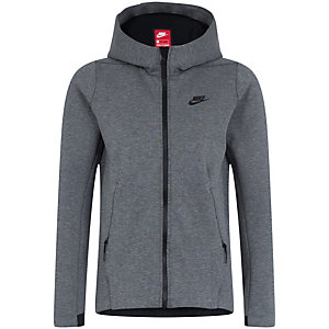 nike tech fleece sweatjacke damen grau schwarz im online. Black Bedroom Furniture Sets. Home Design Ideas