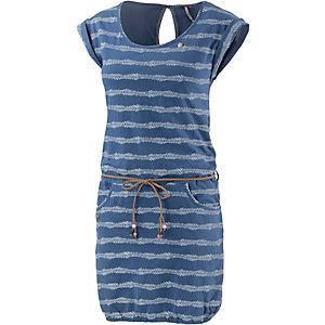Ragwear Kurzarmkleid Damen blau/weiß gestreift