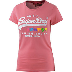 superdry t shirt damen pink im online shop von sportscheck. Black Bedroom Furniture Sets. Home Design Ideas