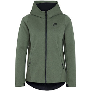 nike tech fleece sweatjacke damen gr n schwarz im online. Black Bedroom Furniture Sets. Home Design Ideas