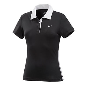 Nike Tennis Polo Damen schwarz/weiß