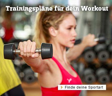 Trainingspläne für Fitness und Workout