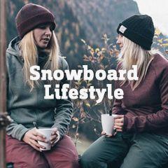 Outfits rund um die Snowboard-Piste