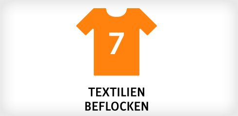 Textilien Beflocken Icon