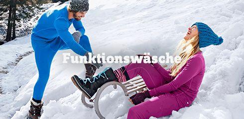 Wäsche für Ski und Snowboard