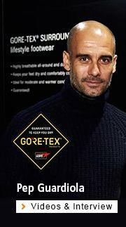 Pep Guardiola bei Gore-Tex