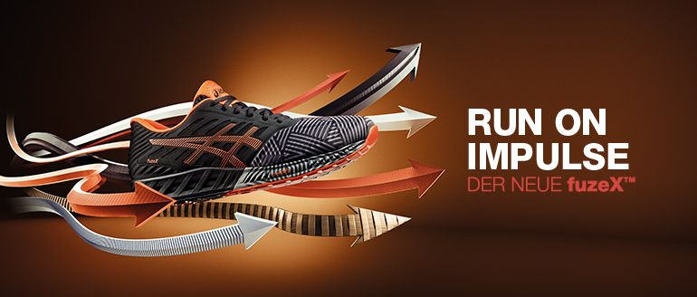 ASICS fuzeX Run on Impulse Content Banner