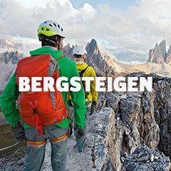 Ausrüstung und Bekleidung zum Bergsteigen