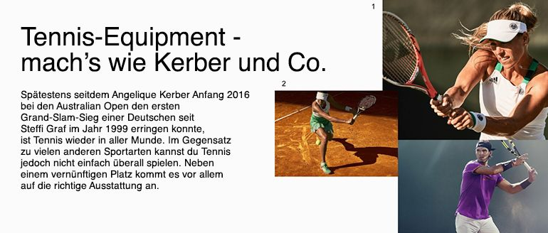 Tennis - Passende Schläger & mehr