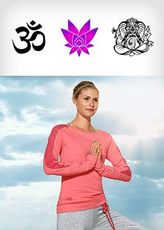 Symbole auf Yoga Kleidung