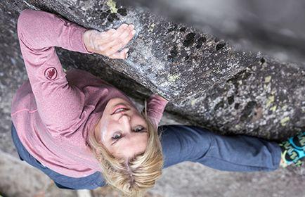 Bekleidung und Ausrüstung zum Bouldern für Damen