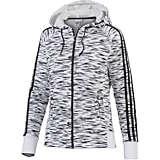 adidas Kapuzensweatjacke Damen weiß/schwarz