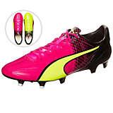 PUMA evoSPEED SL Leather II Tricks Fußballschuhe Herren pink / neongelb