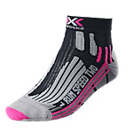 X-SOCKS Speed Two Laufsocken Damen schwarz/brombeer