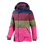 Burton Eclipse Snowboardjacke Damen bordeaux/oliv/pink