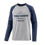 Maui Wowie Printlangarmshirt Herren grau/blau