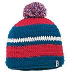Jack Wolfskin Crochet Bommelmütze blau/rot