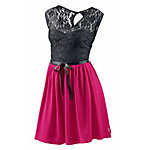 Neighborhood Kurzarmkleid Damen schwarz/fuchsia