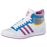 adidas Top Ten Hi Sleek Sneaker Damen weiß/gelb/lila