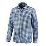 S.OLIVER Langarmhemd Herren blau/weiß