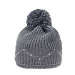 Eisbär Kelsy Pompon Crystal Bommelmütze anthrazit/schwarz