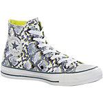 CONVERSE Chuck Taylor Multi Panel Hi Sneaker Damen grau/weiß/gelb