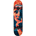 AREA Mediative Skateboard-Komplettset rot/blau