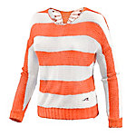 Maui Wowie Strickpullover Damen apricot/offwhite