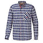 OCK Langarmhemd Herren dunkelblau/orange