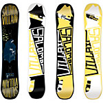 Salomon The Villain Freestyle Board schwarz/gelb
