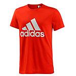 adidas Logo T-Shirt Herren rot/weiß