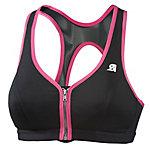 Shock Absorber Front Zip Sport-BH Damen schwarz/pink