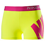 Nike Pro 3'' Tights Damen gelb/pink
