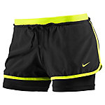 Nike Full Flex 2-in-1 Short Funktionsshorts Damen schwarz/neongelb