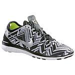 Nike Free 5.0 Train Fit 5 Print Fitnessschuhe Damen schwarz/silberfarben