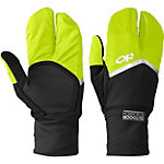 Outdoor Research Hot Pursuit Convertible Running Outdoorhandschuhe schwarz/grün