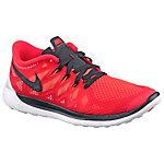 Nike Free 5.0 Laufschuhe Jungen rot/schwarz