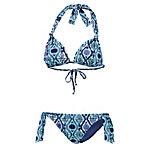 Roxy Beach Dream Triangelbikini Damen dunkelblau/hellblau
