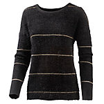 Neighborhood Strickpullover Damen schwarz/goldfarben